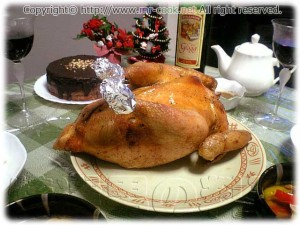クリスマスローストチキン