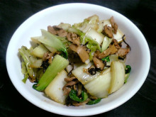 白菜と豚肉の中華風炒め