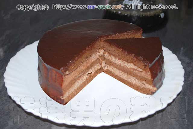 チョコレートレシピ: 本格ザッハトルテ風チョコレートケーキのレシピと