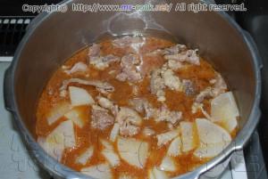 牛スジ大根(牛スジのドブ煮)