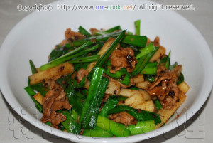 長芋と豚肉の豆鼓(トウチ)炒め
