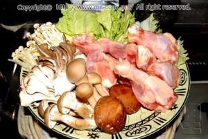 豆乳鍋の材料