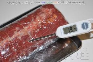 牛肉を室温に戻す