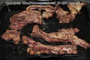 牛筋肉をオーブンで焼く