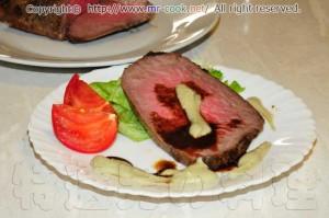 本科クローストビーフと美味しいグレービーソース