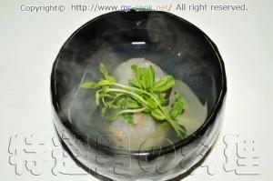 海老入りレンコン餅の椀物