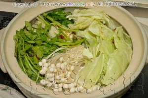 トリガラスープの塩モツ鍋