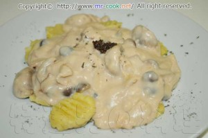 サツマイモのニョッキ クリームソース