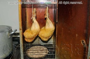 鶏モモ肉を燻製する