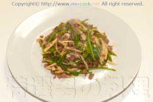 青椒牛肉絲(牛肉の細切り炒め)