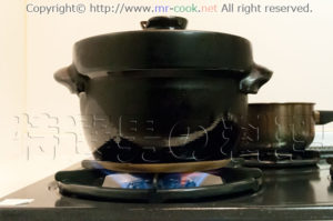 最初は強火で調理