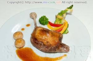 鴨のコンフィ晩白柚ソース