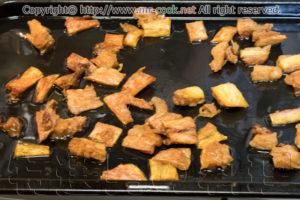 スジ肉をオーブンで焼く