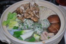メジナのツミレ鍋