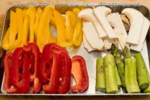 野菜を同じ大きさに切る