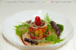 野菜とアジのコンフィのアスピック