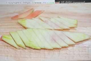 皮のの緑の部分を削ぐ
