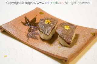 神戸牛ブリスケの昆布締め炙り寿司