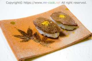 神戸牛ブリスケの炙り寿司