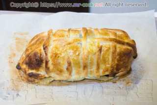 パイ包み焼きの焼き上がり