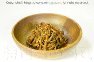 ゼンマイを使った韓国の家庭料理ナムルのレシピ
