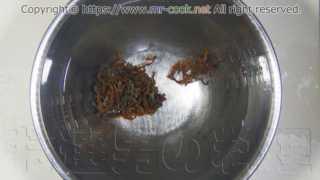 肝臓ゼンマイをタップリの水に漬ける