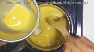ソース・ヴルーテに卵黄液を加える