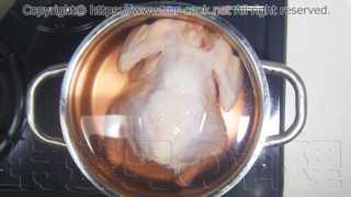鶏肉を3%の塩水に8時間漬ける
