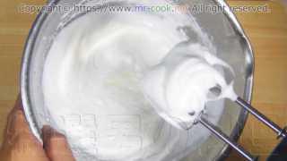 しっかりとしたメレンゲを作る