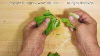 葉野菜は手でちぎる